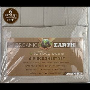Microfiber queen sheet set beige sheets
